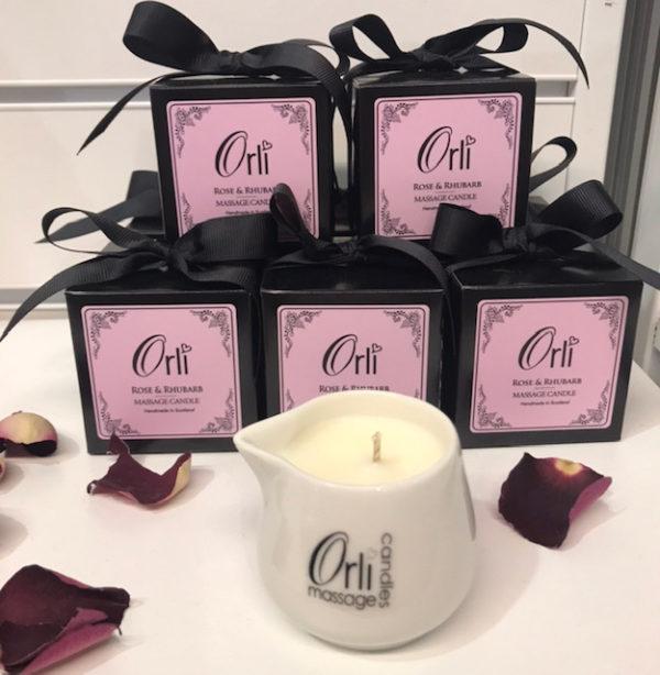 Rose & Rhubarb Massage Candle Ceramic