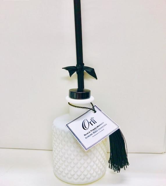 luxury bohemian reed diffuser black pomegranate