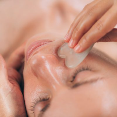 Orli Rose Quartz Gua Sha Facial Sculpt Ritual