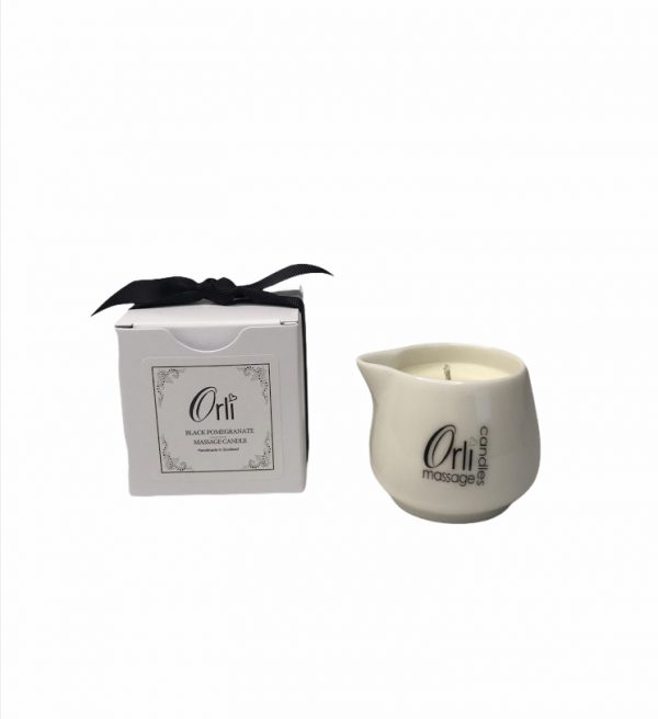 Black Pomegranate Massage candle by Orli